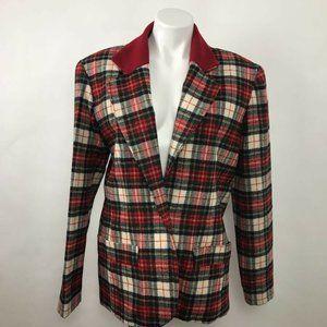 Vtg Diane Von Furstenberg Vogue Blazer Jacket XL